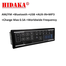 HIDAKA M202 1 din Автомобильная магнитола с Bluetooth USB зарядка 0.5A AUX для экскаватора Hitachi Takeuchi Komatsu экскаватор 12V 24V часы реального времени