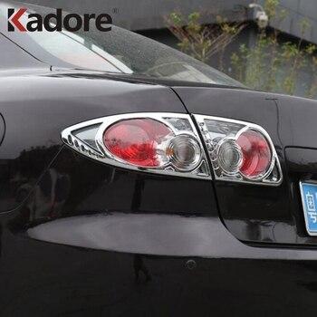 Für Mazda 6 M6 Atenza 2003 2004 2005 2006 2007 2008 Chrom Hinten Zurück Licht Lampe Abdeckung Trim Schwanz Licht aufkleber Rahmen Auto-Deckt