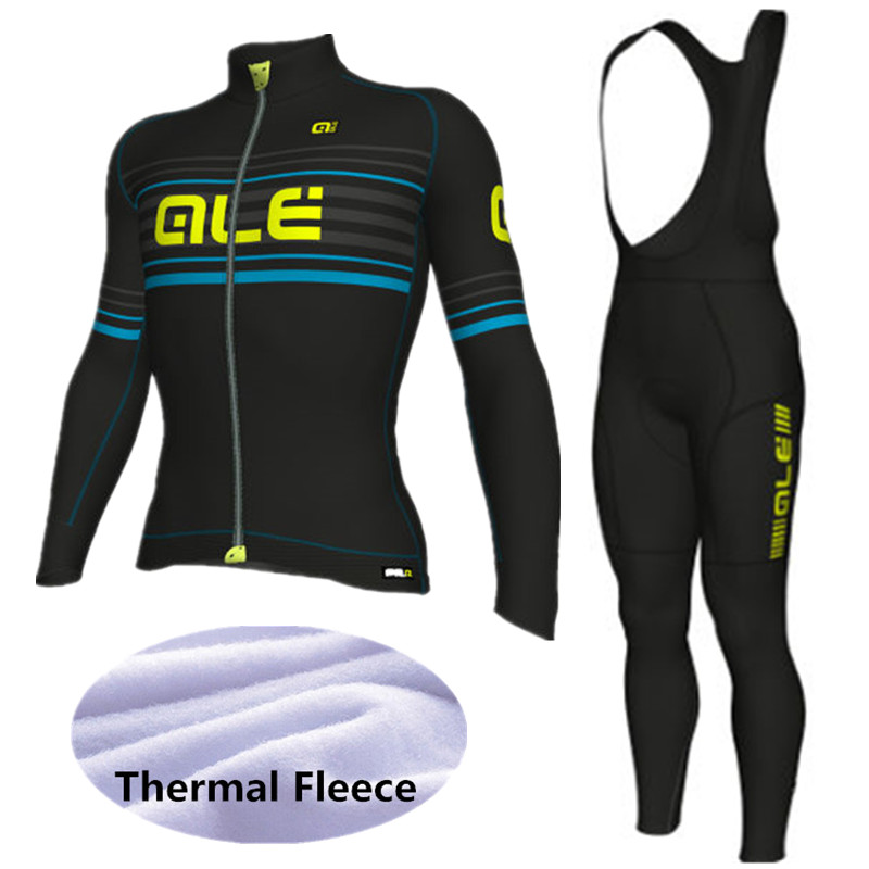 2018 Pro Winter Thermal Fleece Maillot Cycling Jersey Ropa Ciclismo Mtb Clothes Long Sleeve Men Bike Wear ALE Cycling Clothing цена 2016