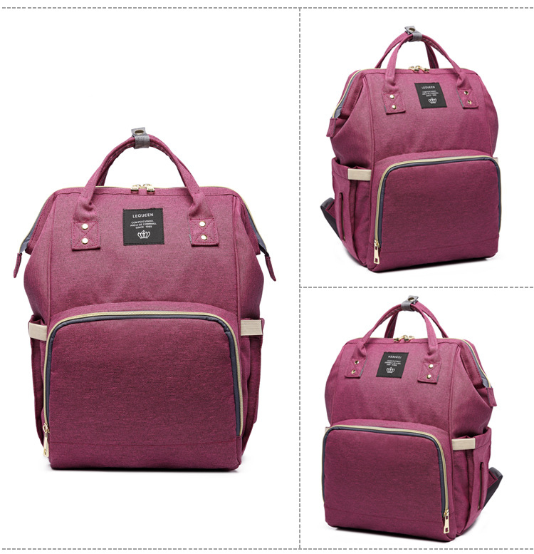 HTB13U9aXnnI8KJjSszbq6z4KFXas Fashion Brand Large Capacity Baby Bag Travel Backpack Designer Nursing Bag for Baby Mom Backpack Women Carry Care Bags