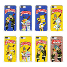Rick e morty Simpson sertao macio caso de telefone Silicone capa transparent para o iphone XS XR Max 6 7 8 Plus 5 6 X Habitacao(China)