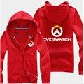 2016 Hot Game OW Over and Watch Hoodies Sweatshirt Anime Winter Game Warm Liner Coats Jackets Men Fleece OW Hoodie Plus Size