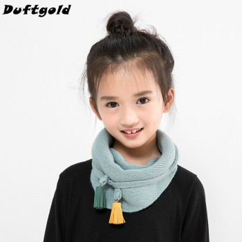New Fashion Girl Novelty Triangle Scarf Children Beautiful Solid 120*40cm Scarves Female Popular Fringe Lovely Pashmina Duftgold
