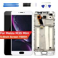 LCD para Meizu M3S Mini Display LCD Touch Screen Digitador Assembléia com Frame para o transporte Meizu M3S Y685H Parte Substituição|lcd meizu|meizu lcd|lcd lcd -