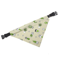Handmade Cactus Print Over Collar Dog Bandana Various Sizes Available Cotton Soft Scarf Pet Accessories