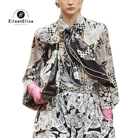 Silk Blouses for Women High Quality Silk Floral Blouse Long Sleeve Women Flower Print Blouse 100% Silk Blouse Women