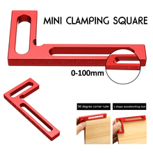 100mm Woodpeckers Precision Woodworking Tool L-squre Mini Clamping Gauging Squares 90 Degree for Cutting Tools