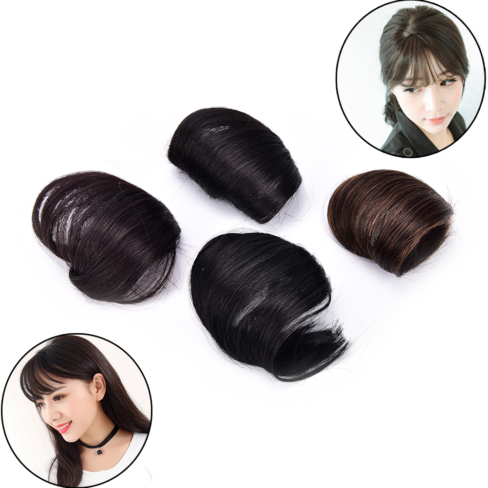 Hot 1pcs Front Neat Synthetic Fringe Clip In Bangs Party Wedding ...