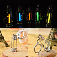 25 Years Tritium Gas Glow Key Chain Acrylic Anti Shock Automatic Luminous Fluorescence Glow Without Energy