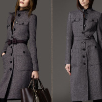 Winter Wool Coat Women Long Sleeve Outwear Jacket Casual Autumn Winter Elegant Long Coat Plus Size
