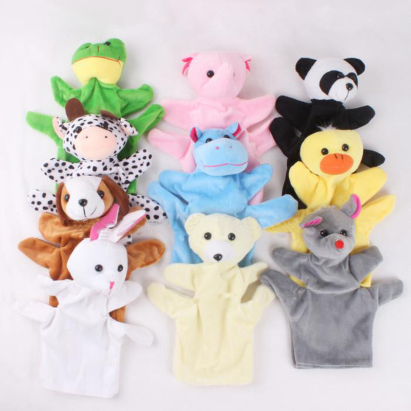 Kawaii Animal Baby Child Zoo Farm Animal Hand Glove Puppet Finger Sack Plush Toy Cloth Educational Hand Doll Puppet Story Toys