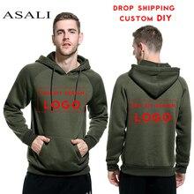 2caf092d4 ASALI DIY Hoodies 2018 Man Women Custom Personalized Logo DIY Customized  Pattern Designer Print Fleece Hooded