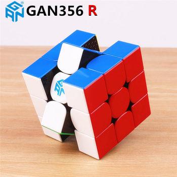 GAN356 R 3X3X3 Magic Kecepatan Kubus Tanpa Stiker Profesional Gan 356R Cubes Puzzle Mainan Pendidikan untuk Anak-anak gan 356 R