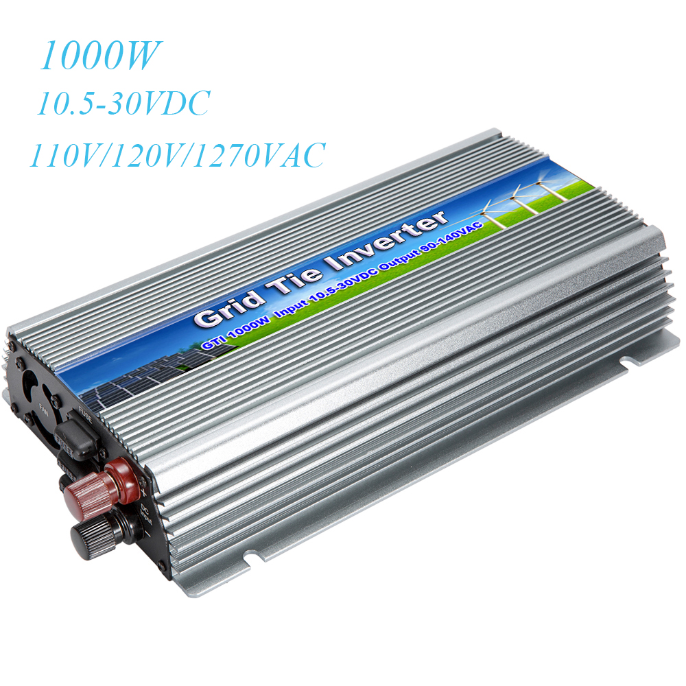MAYLAR Pure Sine Wave Inverter 1000W DC 10.5-30V to AC 110V 120V MPPT Solar Grid Tie Inverter Voltage Converter 18V PV System