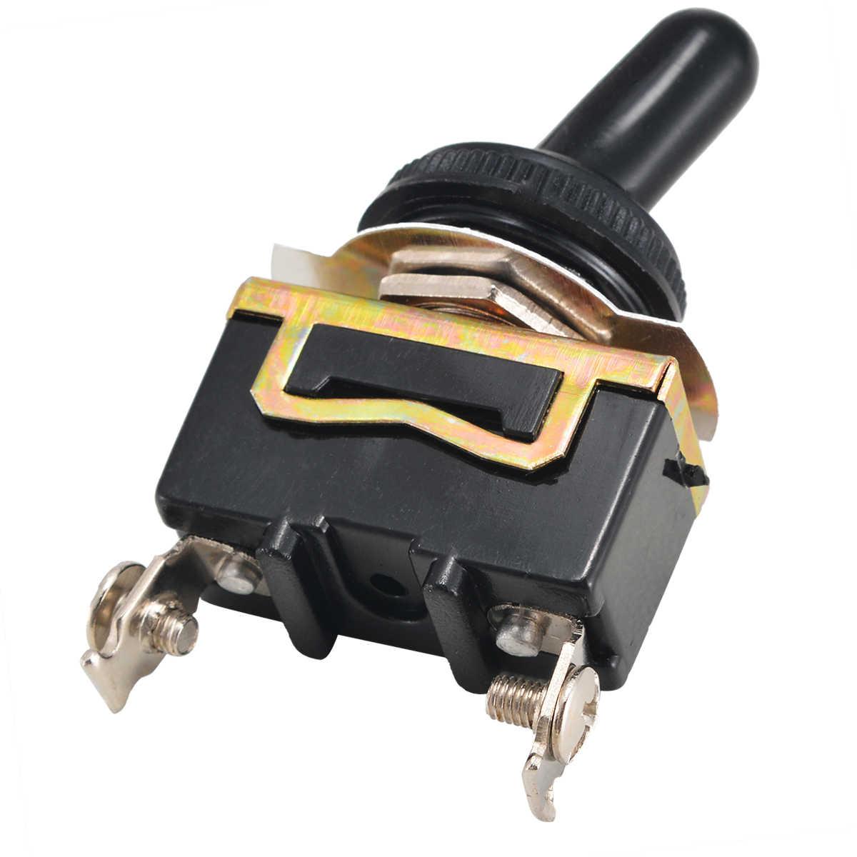 5 adet ağır dayanıklı geçiş anahtarı Mayitr kesen 2 Pin ON OFF Rocker SPST anahtarı su geçirmez çizme SPST anahtarı 15A 250V