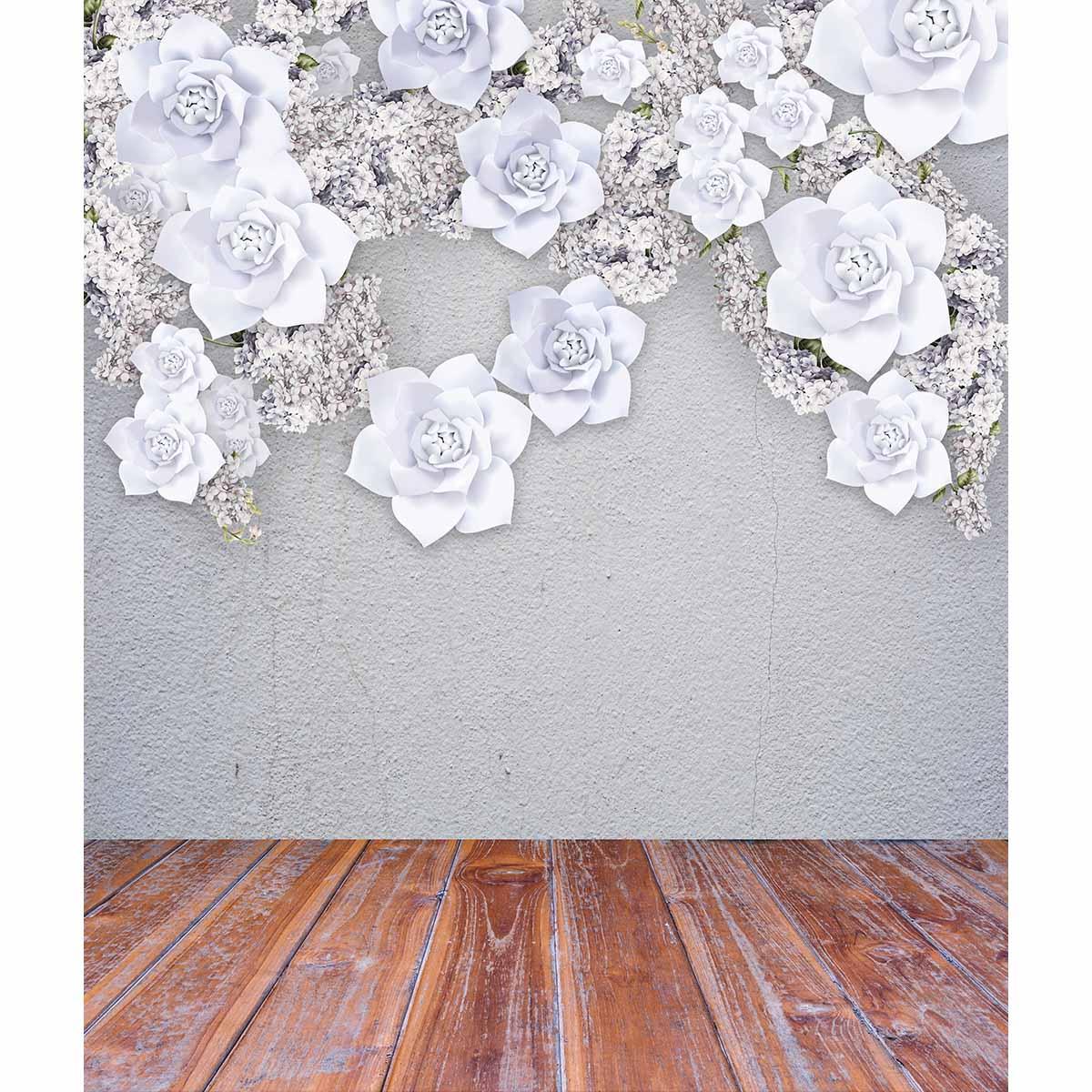 Allenjoy photography background white flower grey wall wood floor ...