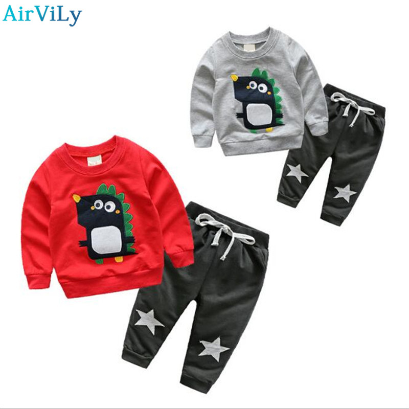 Spring Children Boy Clothing Set Brand Cartoon Boys Sports Suit 1-5 Years Kids Tracksuit Sweatshirts + Pants Baby Boys Clothes spring autumn children s clothing suits kids sweatshirts pants children sports suit boys clothes set retail toddler leisure