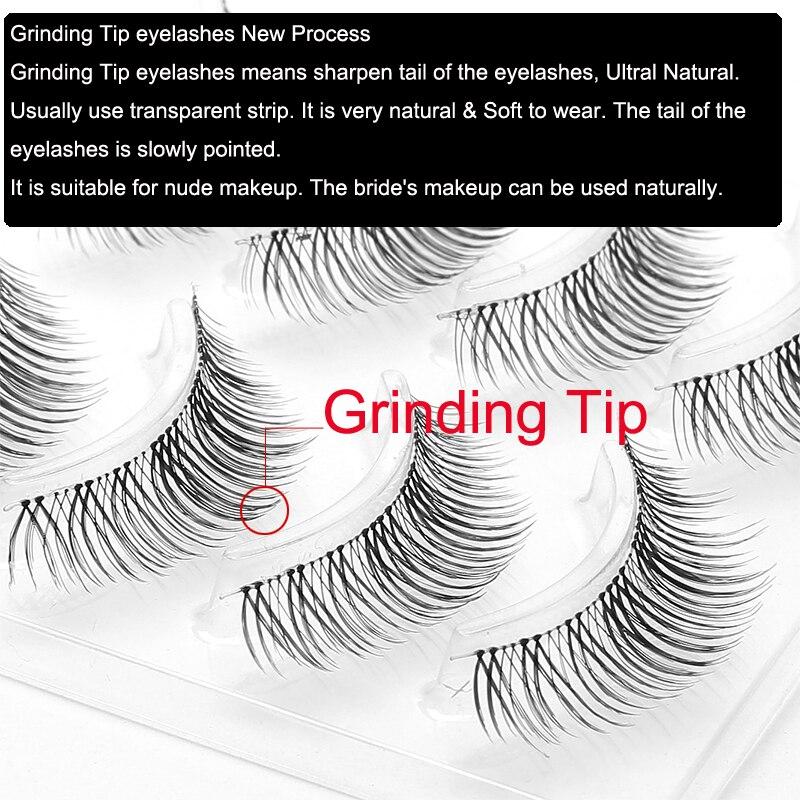 Image 2 - ICYCHEER Japanese Natural Style False Eyelashes Makeup Ultra Light Air Lashes Extension Handmade Soft Upper and Lower Eyelashes-in False Eyelashes from Beauty & Health