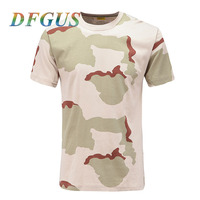 Military Tactics Camouflage Printing T Shirt Cotton Round Neck Short Sleeves For Men Women Quick Drying