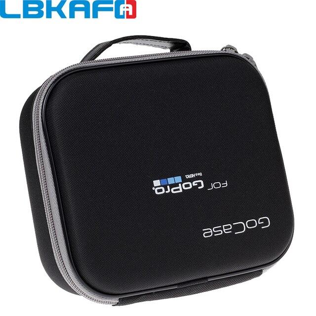 Lbkafa eva portátil bolsa de viagem armazenamento caso saco protetor para gopro hero 9 8 7 6 5 4 sjcam sj4000 sj6 yi câmera acessórios