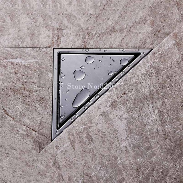 1pcs Stainless Steel Hidden Type Triangle Tile Insert Floor Waste