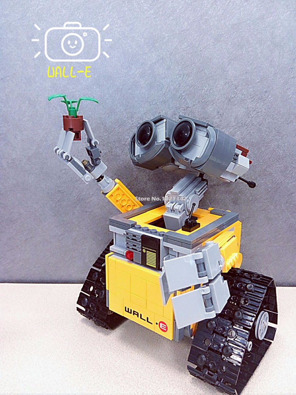 ФОТО 2016 New Lepin 16003 Idea Robot WALL E Building Set Kits starwars building Bricks Bringuedos toys for children