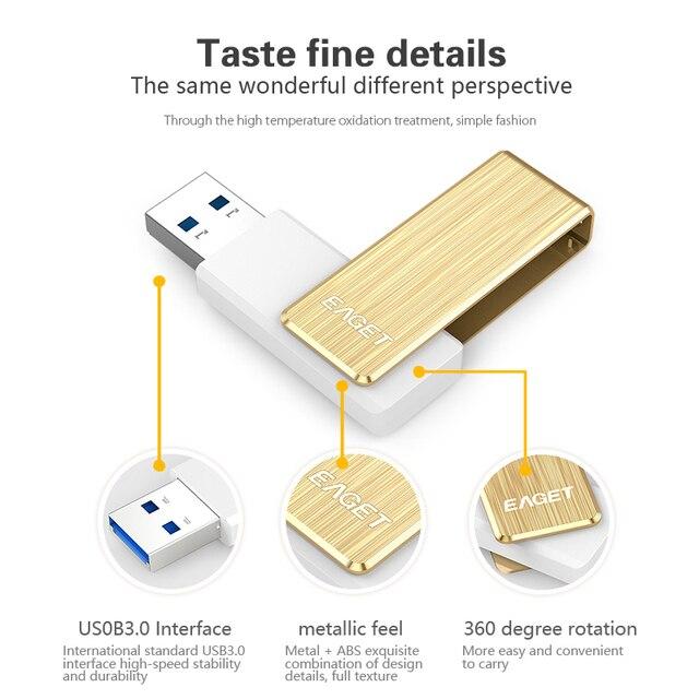 usb flash drive Eaget F50S usb 3.0 pass h2test 128GB 256GB pen driveExternal Storage pendrive usb stick Rapid peak