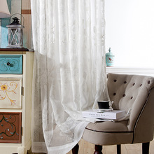 Embroidery Curtain Window White Tulle Bedroom Living Room Curtain Sheer Curtains Rideau Rideaux Pour Le Salon Cortina