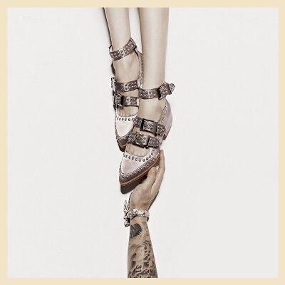 De Femelle Rétro Pointu Avec Femmes Rivet 2018 Sho Automne Mot Britannique Chaussures Boucle Nouveau Bout rose Intérieur Princesse Noir Augmenté Simples CCpaqw1