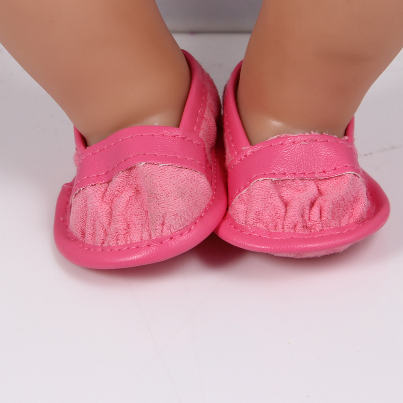 Doll Accessories Red Doll Shoes Wear fit 43cm Doll Baby Born zapf Children best Birthday Gift