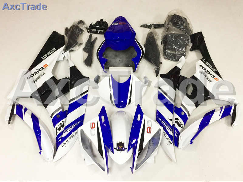 Motorcycle Fairings Kits For Yamaha YZF600 YZF 600 R6 YZF-R6 2006 2007 06 07 ABS Injection Fairing Bodywork Kit Blue White A882 7 gifts bodywork for yamaha r6 fairing kit 06 07 injection molding wine red white matte black 2006 2007 yzf r6 fairings