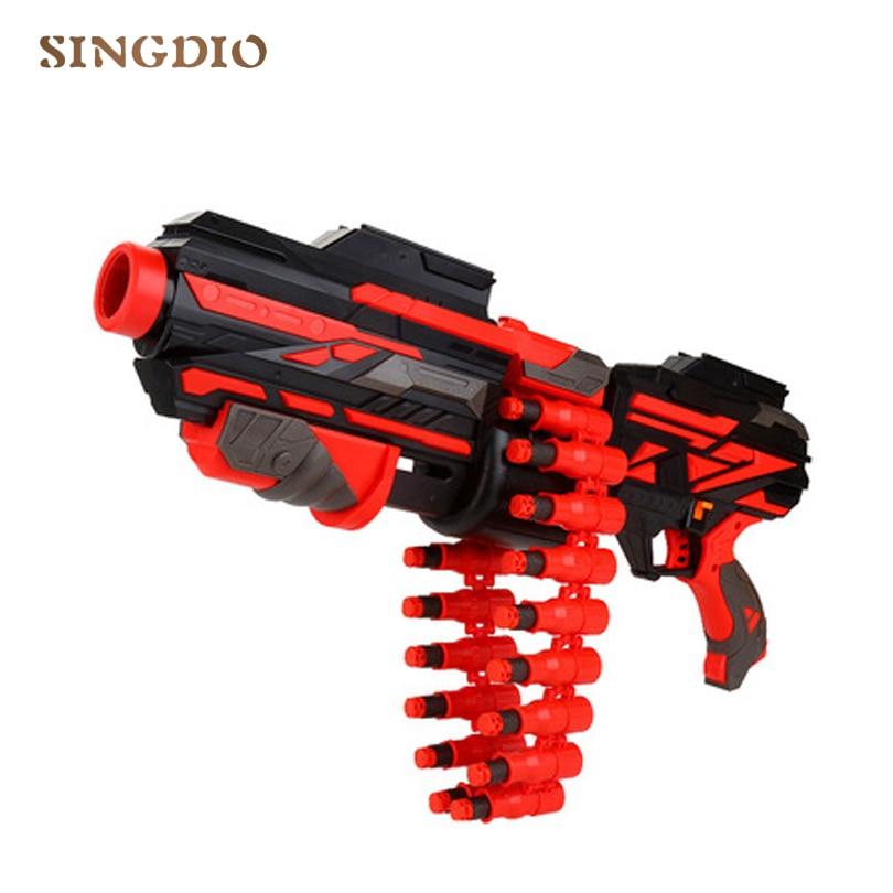 New Plastic Shooting Submachine Gun Weapon Soft Bullet Bursts Gun launch toy bullet chain long range