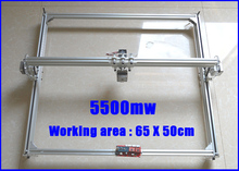5500 mw DIY máquina de grabado láser 5500 mw DEL laser DEL CNC de corte máquina de grabado área 50×65 cm 5500 mw Mini Máquina de Grabado Láser