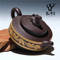 The supply of Yixing purple clay teapot ore dragon teapot 100 ml customized gift store mixed batch