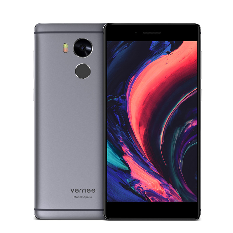 "2017 Original Vernee Apollo Mobile Phone 4G LTE MTK6797T Deca Core 5.5"" 2560*1440 2K 4G RAM 64G ROM 21MP Fingerprint Free VR Box"