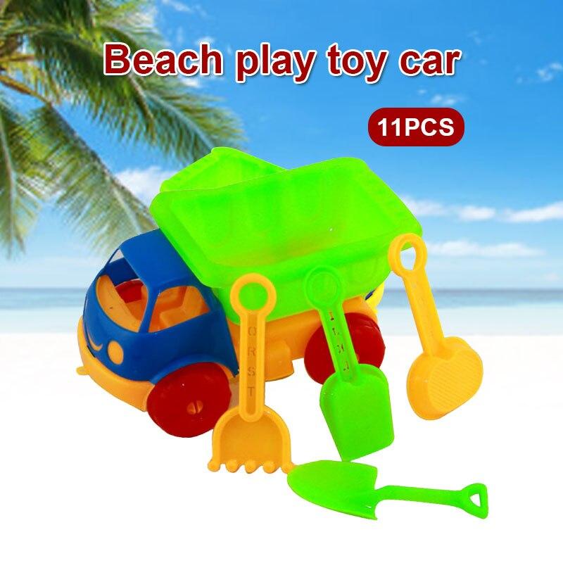 Многоцветный 11 шт./компл. пляжная игрушка автомобиль пляжная игрушка набор пляжные спортивные прочные вечерние летние приморские модные пляжные автомобильные набор практичный