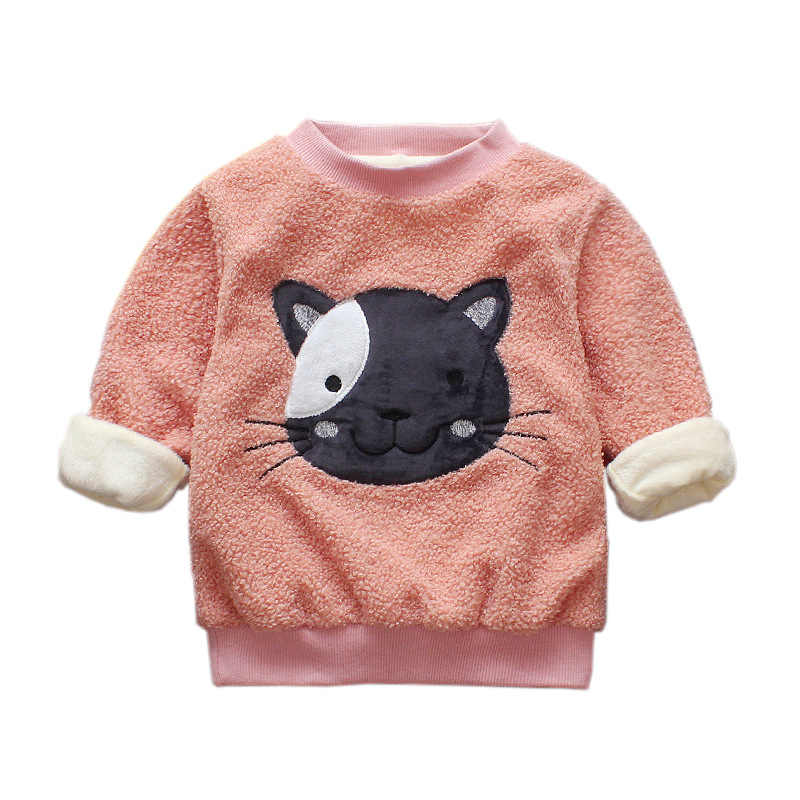70dd031abd ... Toddler Girl Winter Clothes Kids Hoodies Bee Cute Baby Clothes Cat Boys  Sweatshirts Velvet Hoodies Warm ...