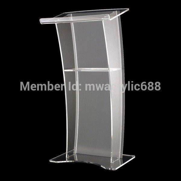 Кафедрой мебели Бесплатная Доставка Стабильный Современный Дизайн Дешевые Прозрачный Акриловый Трибуна акриловые подиум