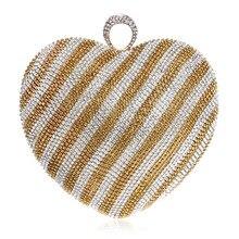 Neue Kristall Diamanten Handtasche Einzelner Abendtasche Mode Kleid Hochzeit Handtaschen Frauen Messenger Bags Geldbörsen Tag Kupplungen