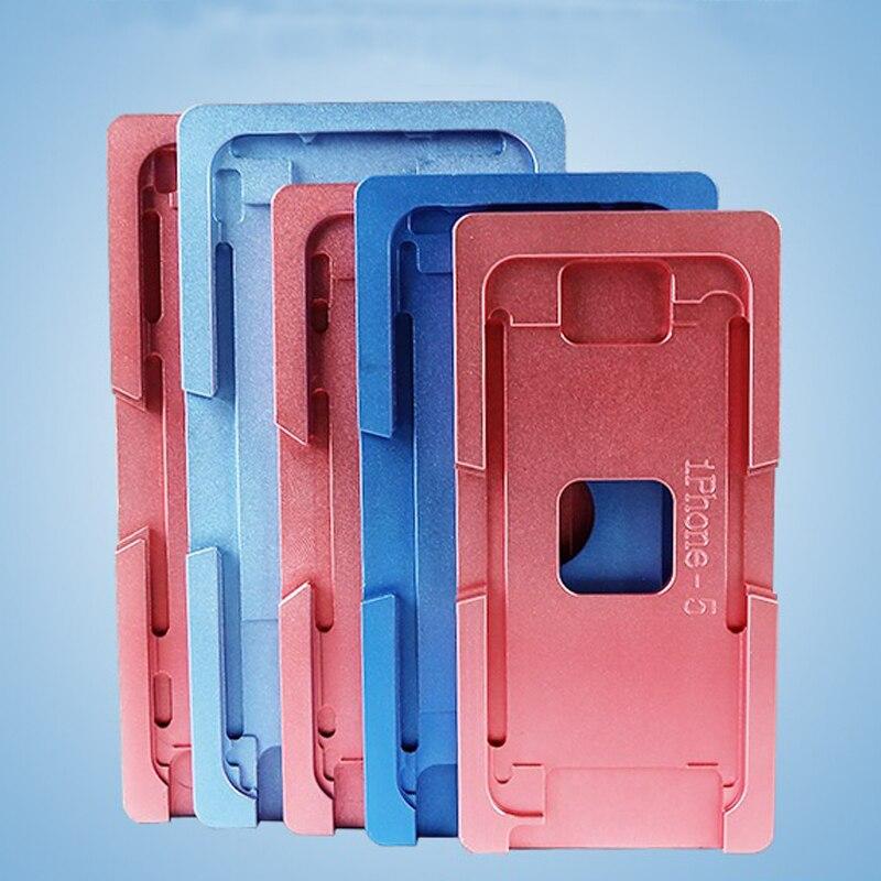 Molde de alumínio Para o iphone X/5/6/6 S/7/8/8 além de Laminador molde de metal jig Apenas para o vidro frontal com moldura de Localização para OCA do usuário