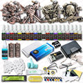 High Quality 4 Relief Tattoo Machine Guns Tattoo Kits 20 Colors Inks Set  Top  Power Supply Tattoo Accessories