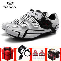 Tiebao road cycling shoes men sneakers women add pedals set self locking bicycle sapatilha ciclismo Athletic sports bike shoes