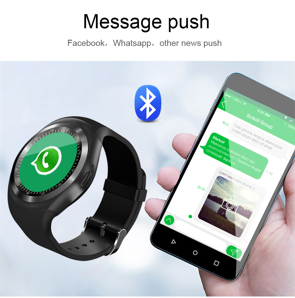 696 Bluetooth Y1 Smart Watch Relogio Android SmartWatch Phone Call GSM Sim Remote Camera Information Display Sports Pedometer 8