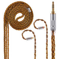 AK Kinboofi 8 Core Pure Silver Cable 2.5/3.5/4.4mm Balanced Earphone Upgrade Cable With MMCX/2Pin For ZS10 PRO TRN X6 CCA A10