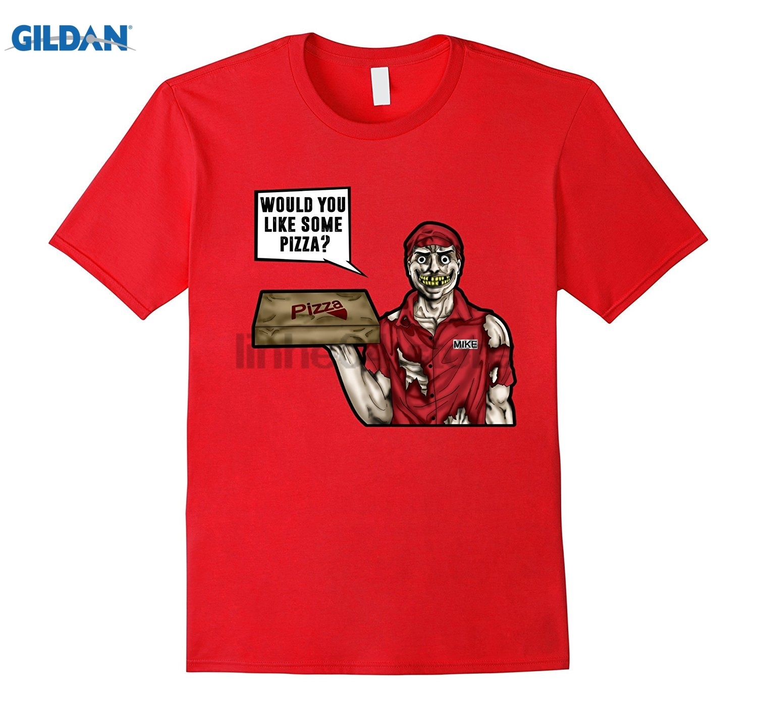 GILDAN Scary Pizza Delivery Man Horror T-Shirt Mothers Day Ms. T-shirt ...