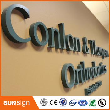 Painted 3D Stainless Steel Letter Sign