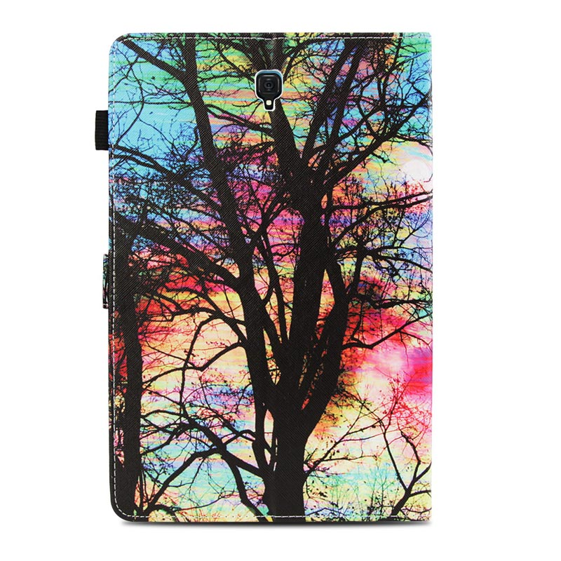 For Samsung Galaxy Tab S4 10.5 Print Flip PU Leather Wallet Case T830 T835 SM-T830 SM-T835 10.5