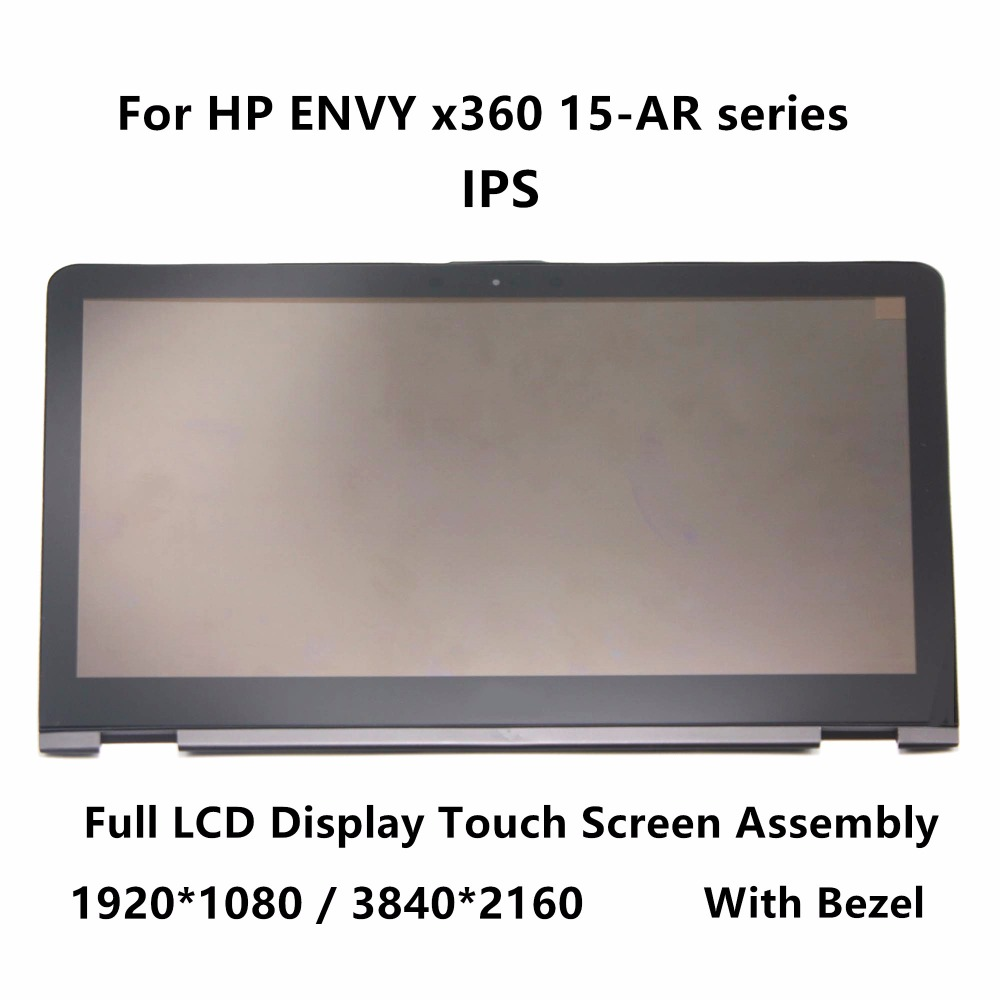 15.6 IPS FHD Full LCD Display Touch Glass Digitizer Assembly Bezel For HP ENVY x360 15-ar002na 15-ar003ur 15-ar004nb 15-ar010ca 15 6 touch glass digitizer lcd display screen assembly fhd ips panel lp156wf4 spl1 for lenovo flex 2 pro 15 with frame bezel