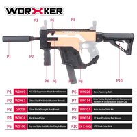 WORKER Dagger Cover Updated Version Modified Kit Kriss Vector Imitation Kit Special for Toy Guns Stryfe Modify Toy Gun Parts New