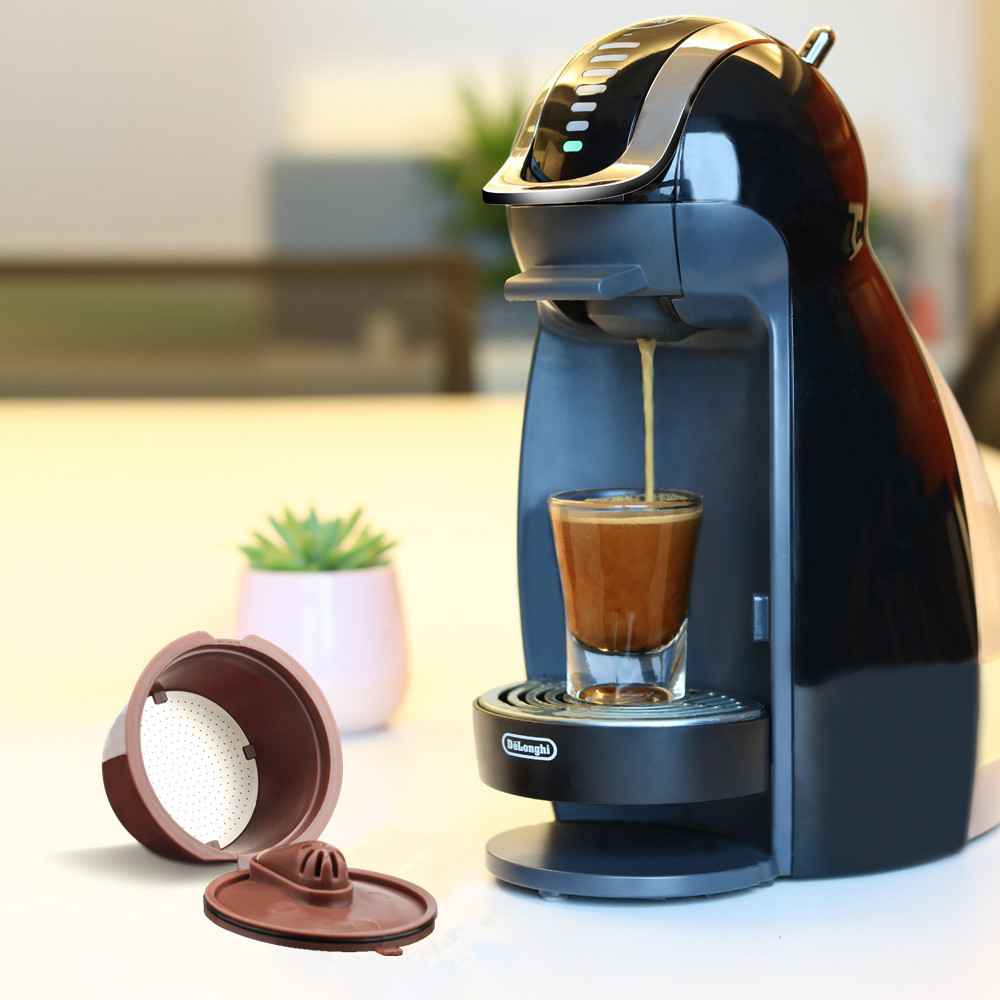 New Crema Coffee Capsule For Nescafe Dolce Gusto Reusable Coffee Tea Dripper Filters Baskets Cafeteira Get 1 Brush 1 Spoon